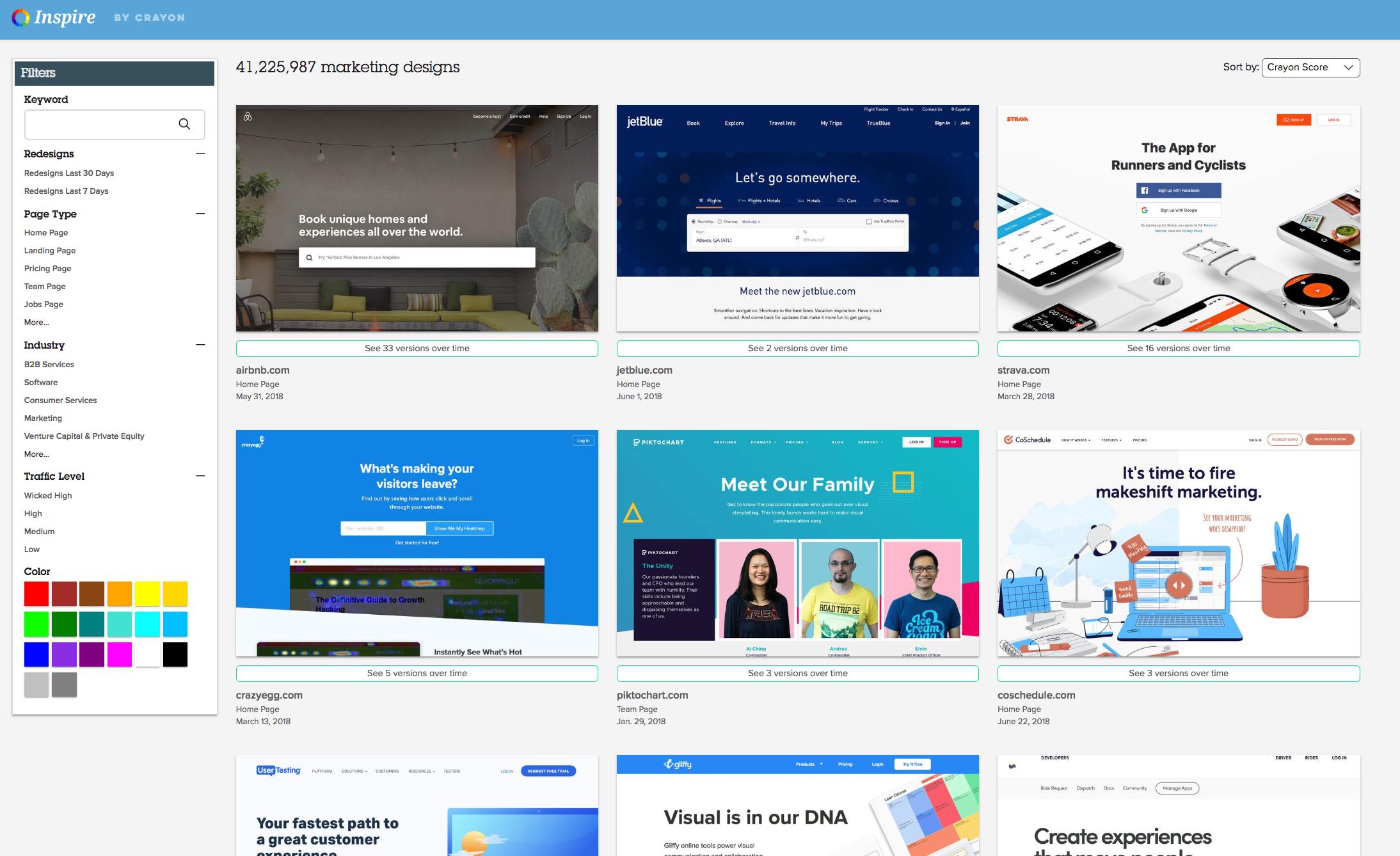 Crayon Inspire - Website Design Inspiration