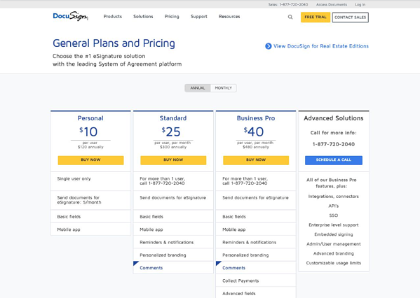 DocusignPricingPage