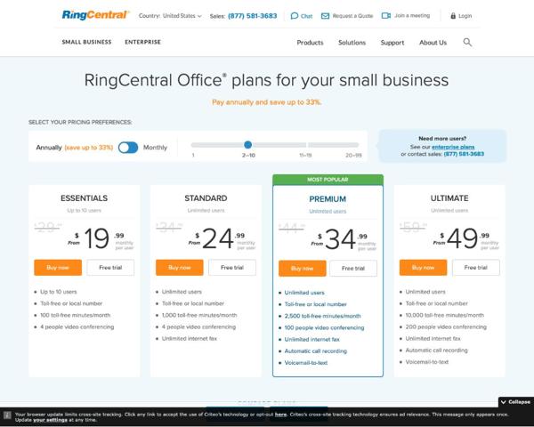 RingCentralPricingPage