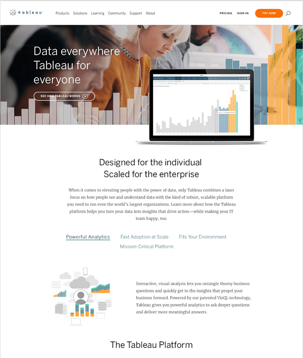 Tableau Product Page Crayon