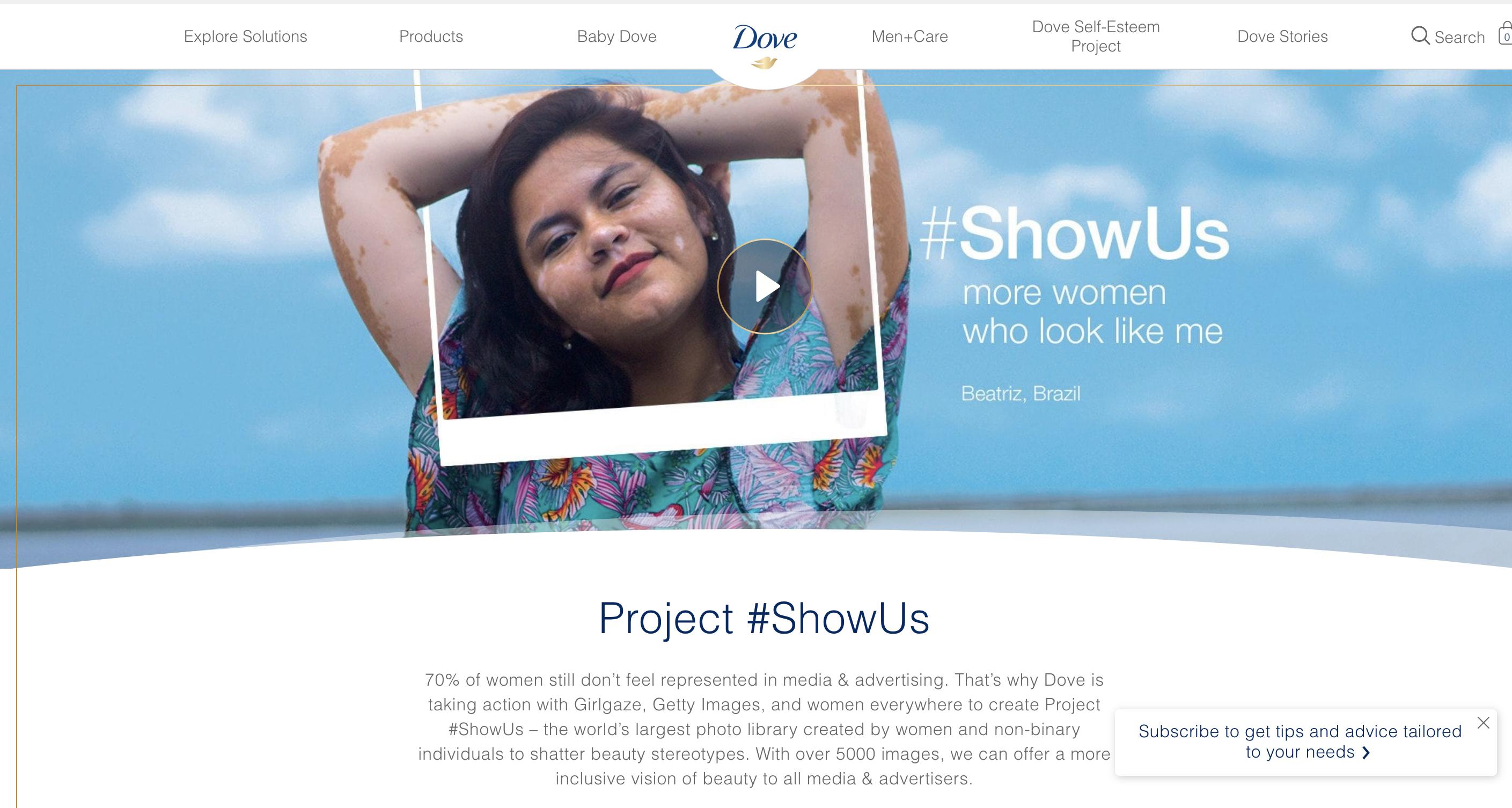 Dove Brand Messaging