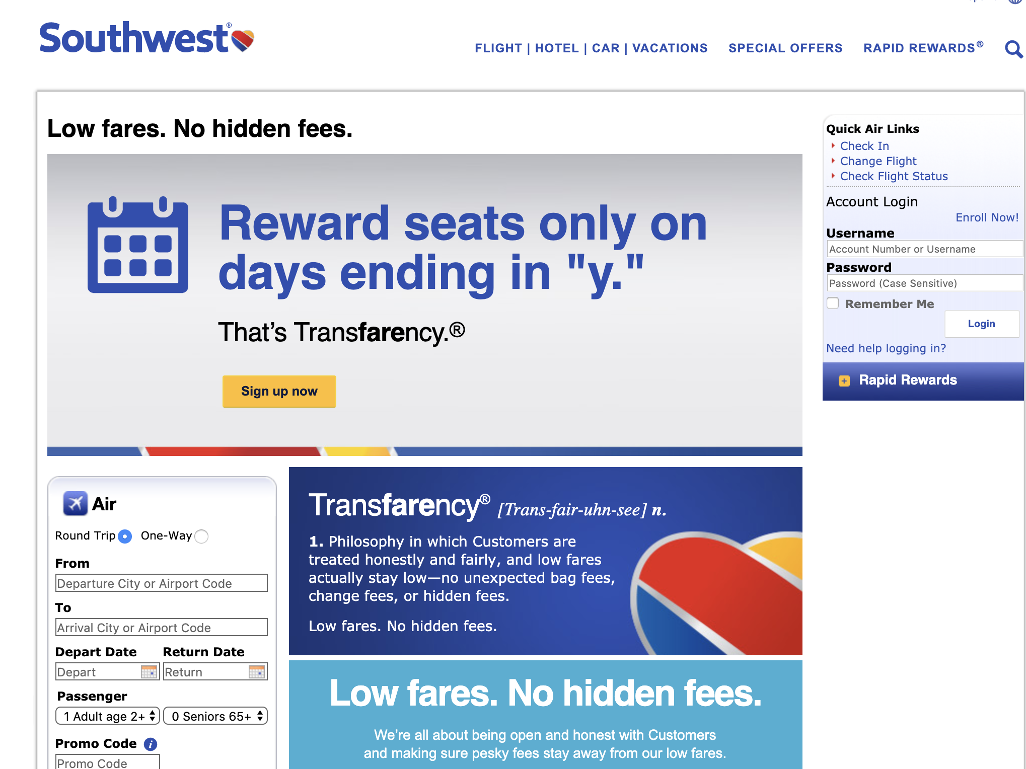 Southwest Airlines Brand Messaging