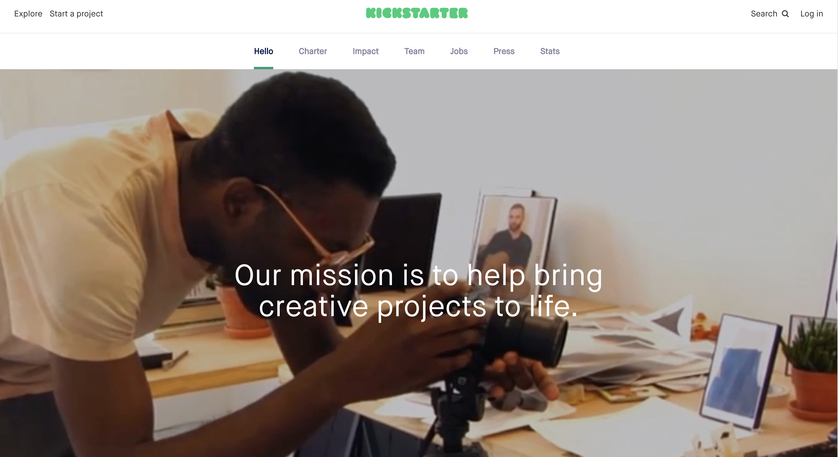 Kickstarter Brand Messaging
