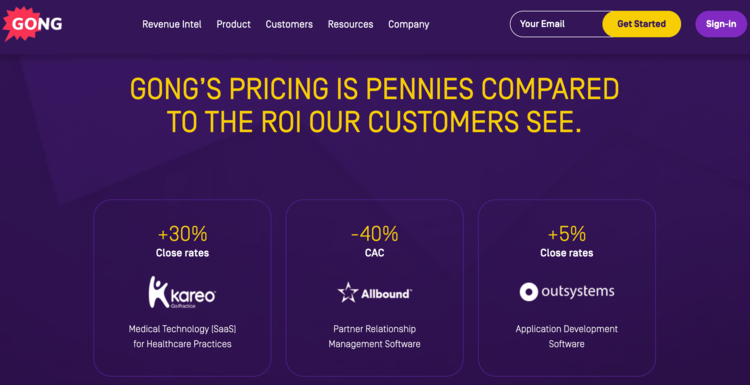 best-saas-pricing-pages-gong-2