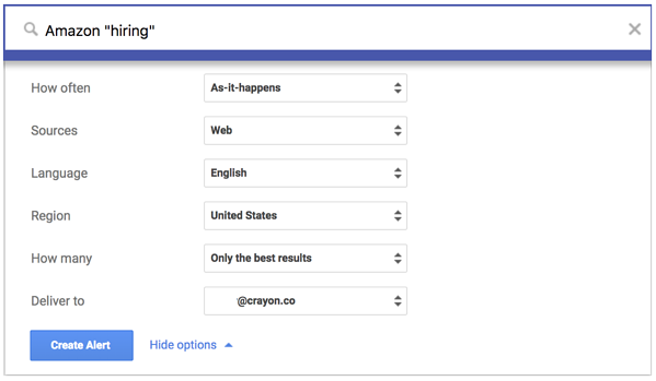 google-alert-amazon-hiring