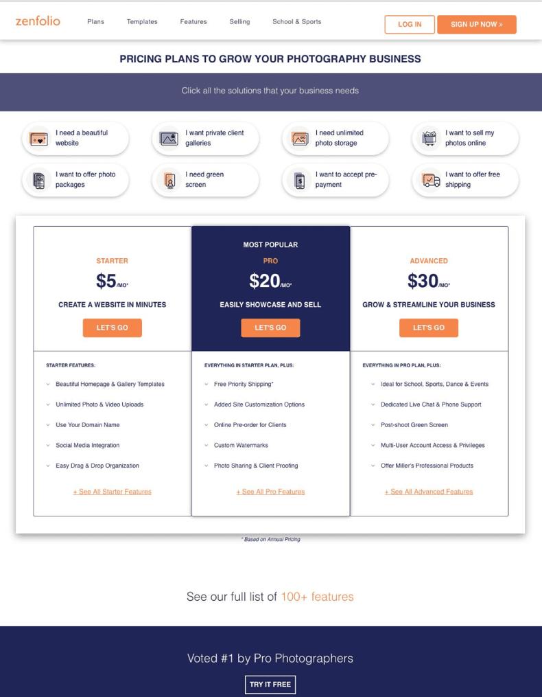 pricing-page-tactics-zenfolio