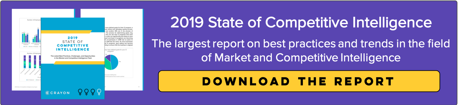 State of Competitive Intelligence 2019