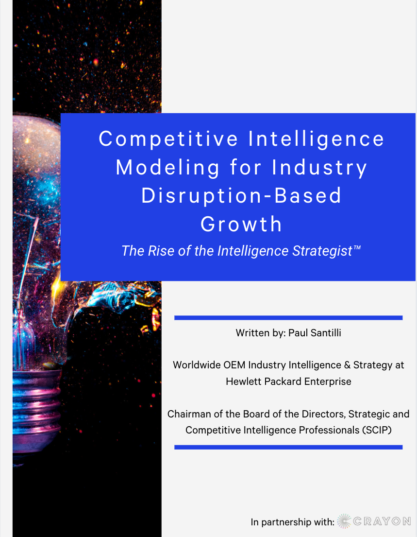 Competitive Intelligence Modeling for Industry Disruption-Based Business Growth